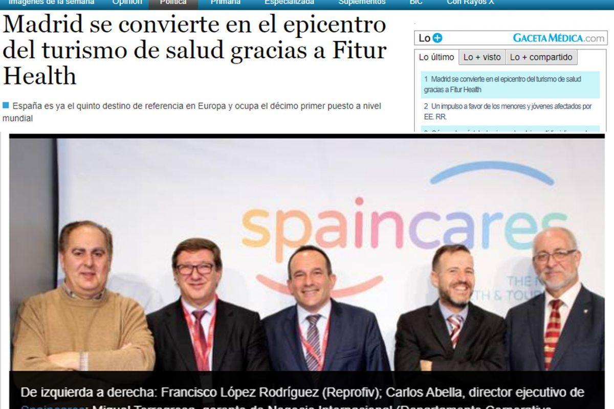 GACETA MÉDICA «Madrid se convierte en el epicentro del turismo de salud gracias a Fitur Health»