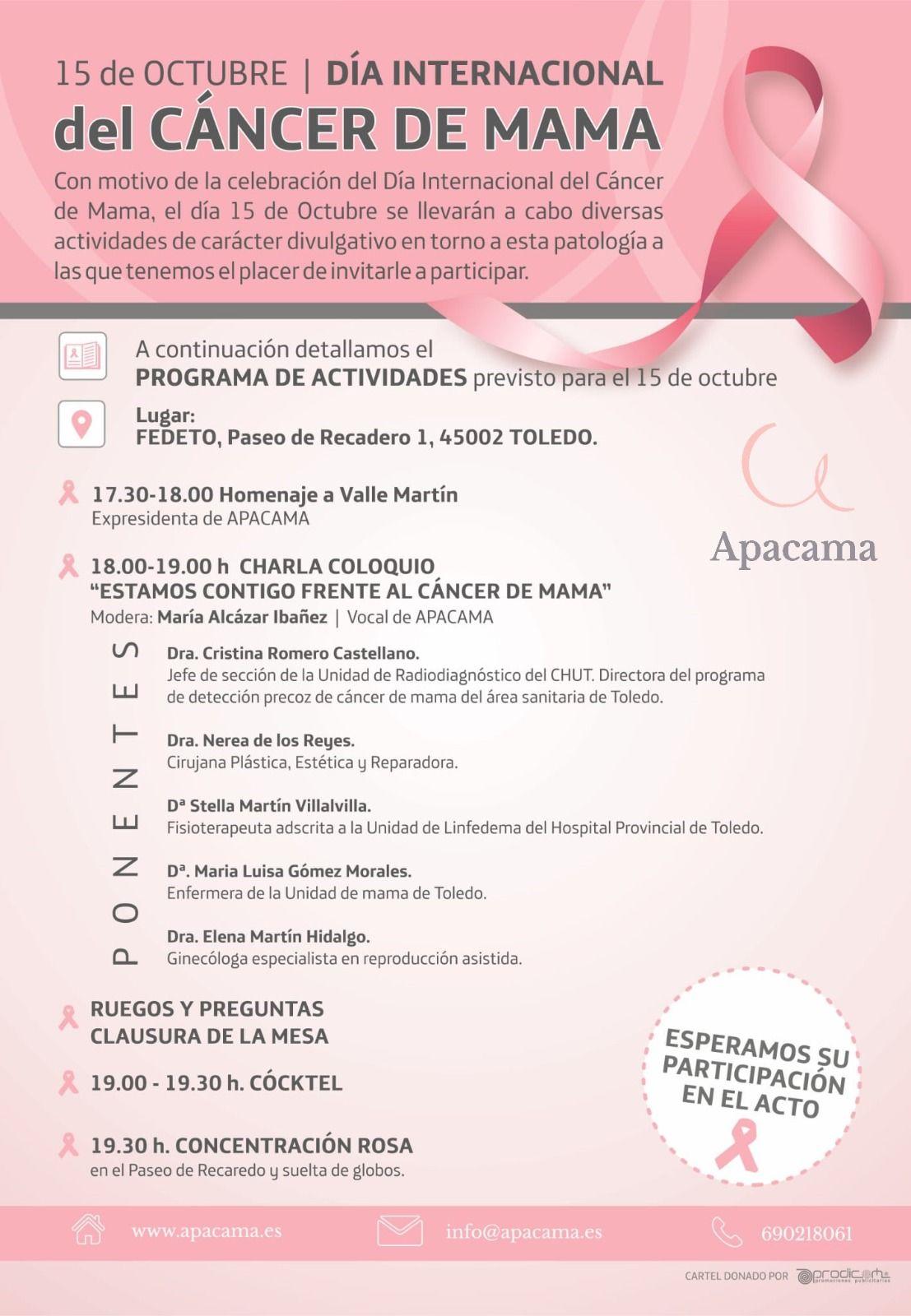 Actos día del cáncer de mama